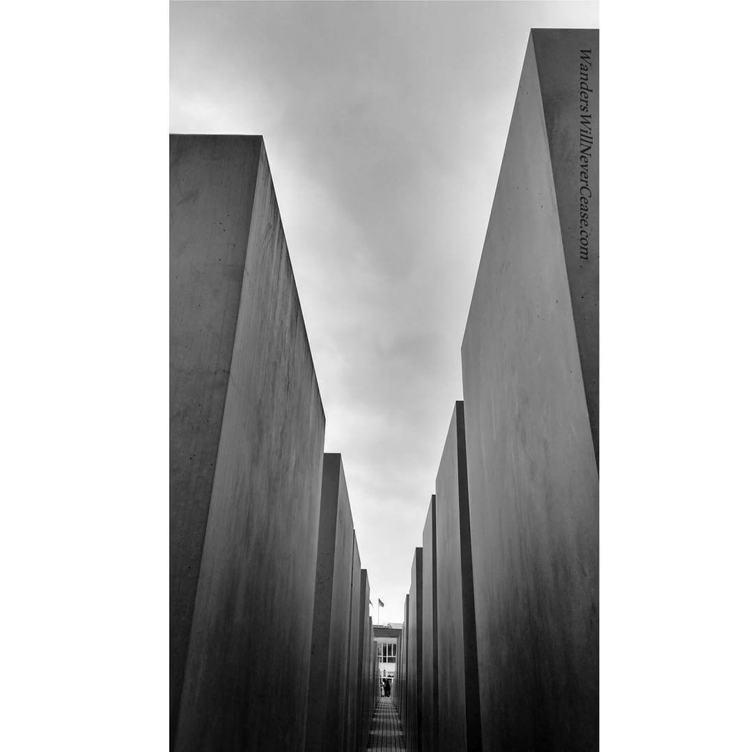Deep inside the Holocaust Memorial This is such a uniquehellip