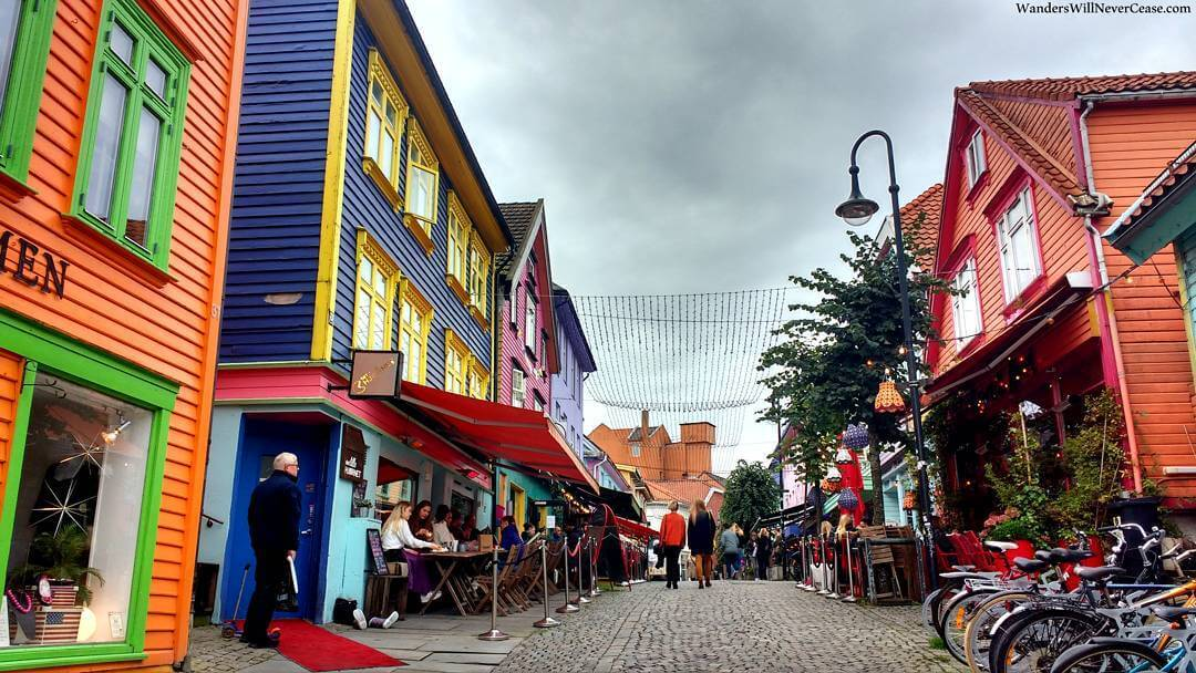 The most colourful street in Stavanger and probably all ofhellip